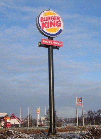 Burger King stolpskylt