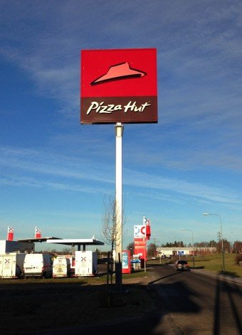 Pizza hut skyltmast