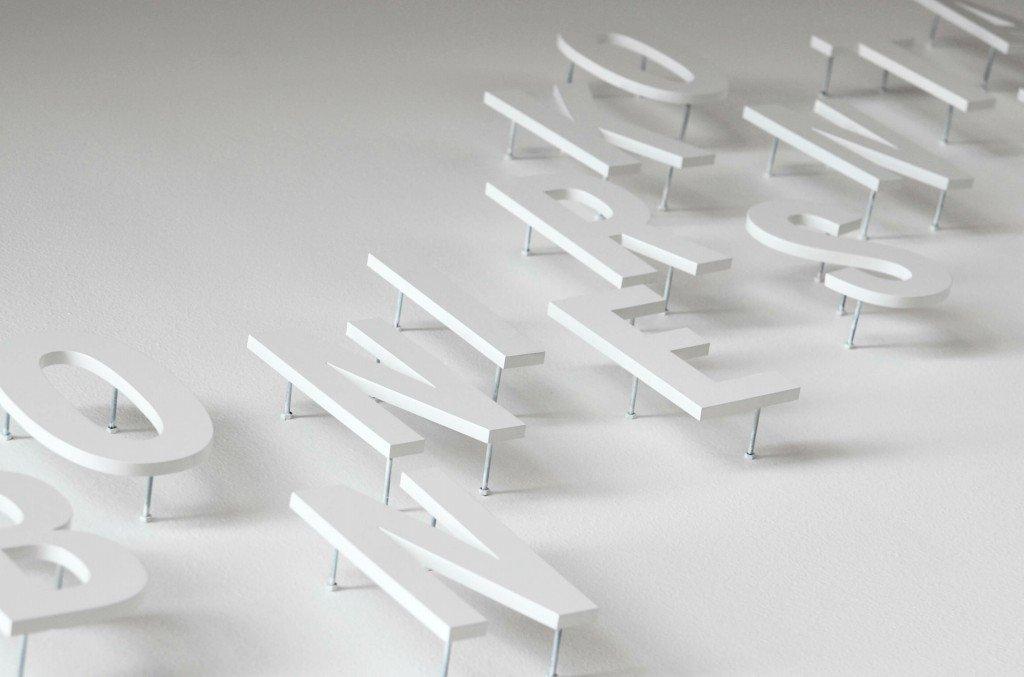 Bonniers konsthall akrylskyltar