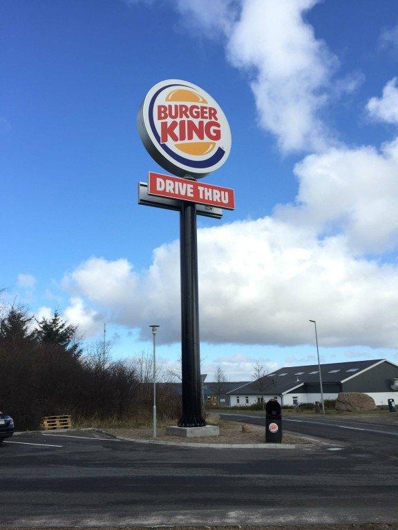 Burger King skyltmast